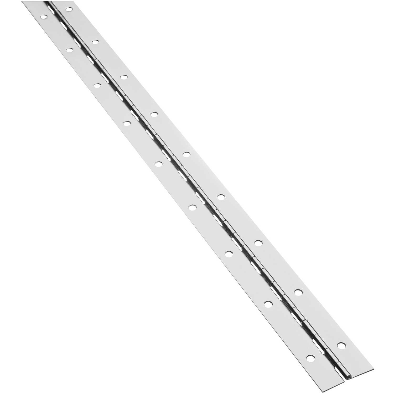 National Hardware  48 in. L Satin Nickel  Steel  Continuous Hinge  1 pk