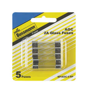 Bussmann  2 amps AGC  Mini Automotive Fuse  5 pk
