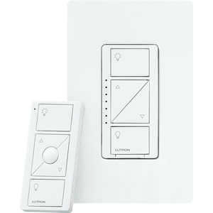 Lutron  Caseta  White  150 watts Wireless  Dimmer Switch w/Remote Control  1