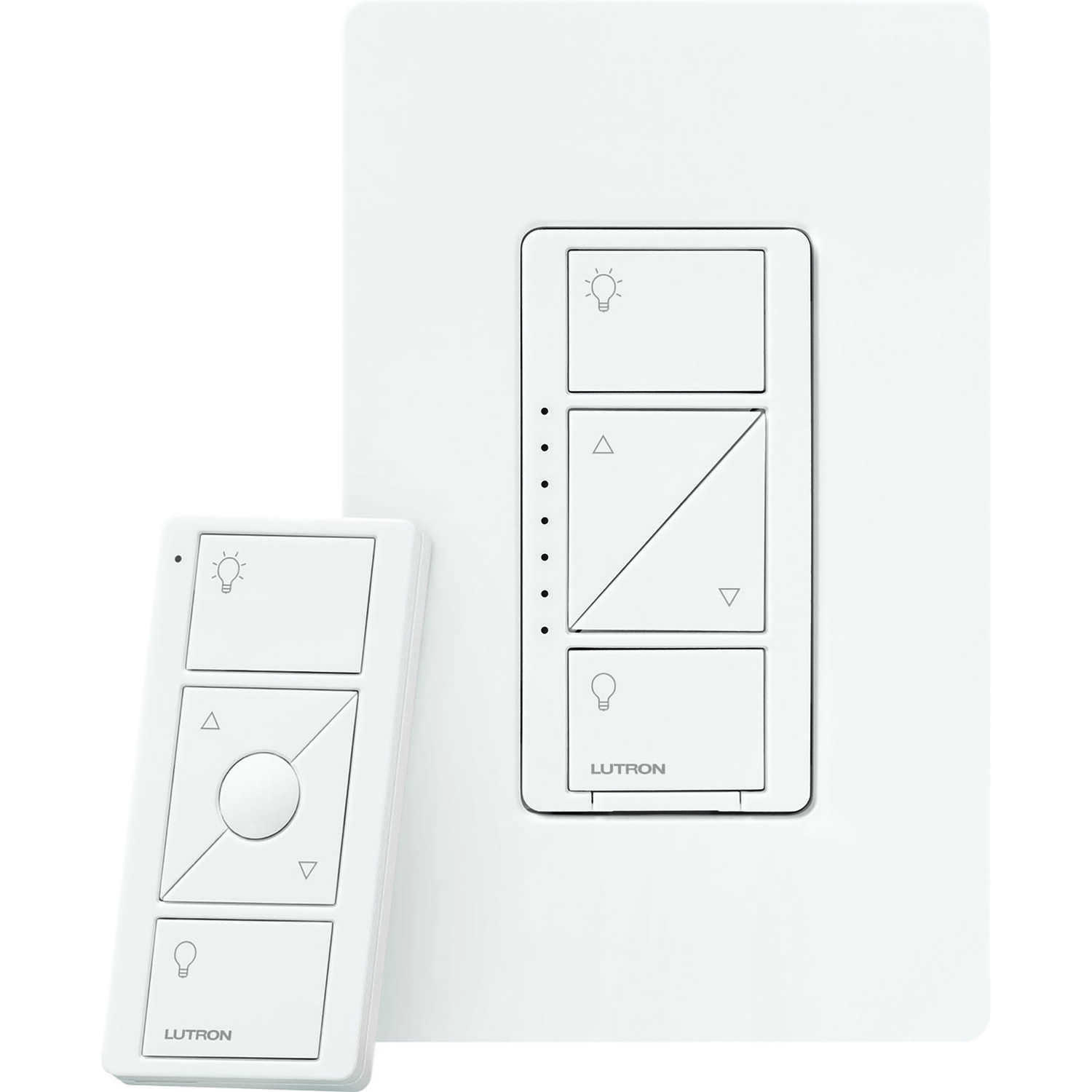 Lutron  Caseta  White  150 watts Wireless  Dimmer Switch w/Remote Control  1 pk