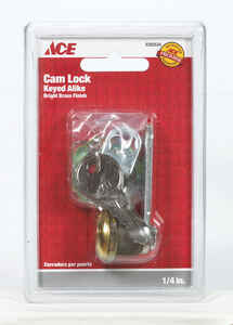 Ace  Bright Brass  Yellow  Brass  Cam Lock