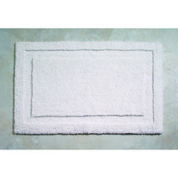 InterDesign  34 in. L x 21 in. W White  Microfiber Polyester  Bath Spa Rug