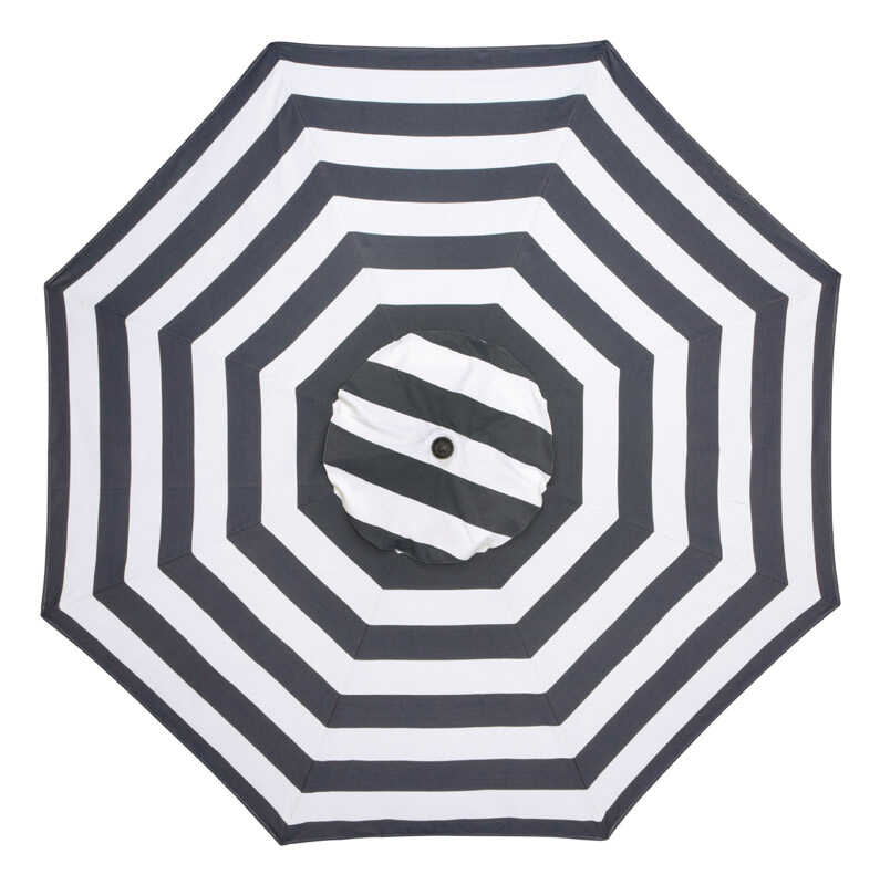 Sunline  Traditional  9 ft. Tiltable Navy Blue Stripe  Market Umbrella