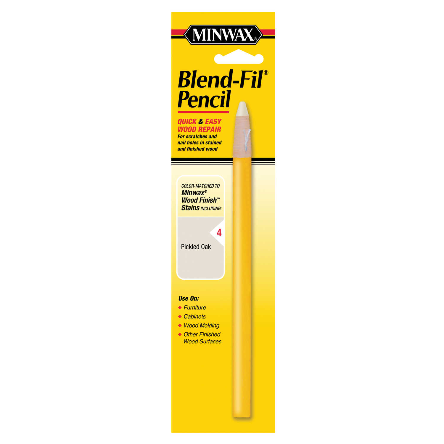 Minwax  Blend-Fil No. 4  Pickled Oak  Wood Pencil  1 oz.