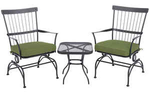 Living Accents  3 pc. Louisville  Powder Coated  Bistro Set