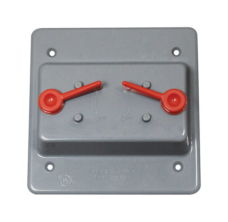 Sigma  Square  Plastic  2 gang Weatherproof Cover  For 2 Toggle Switches