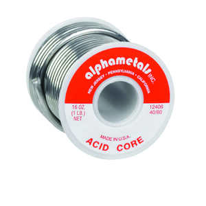 Alpha Fry  16 oz. Tin / Lead  40/60  0.125 in. Dia. Acid Core Solder
