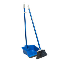 Quickie  Plastic  Stand-Up Long Handled  Dustpan and Brush Set