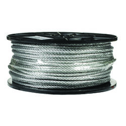 Campbell Chain  Galvanized  Galvanized Steel  3/16 in. Dia. x 250 ft. L Aircraft Cable
