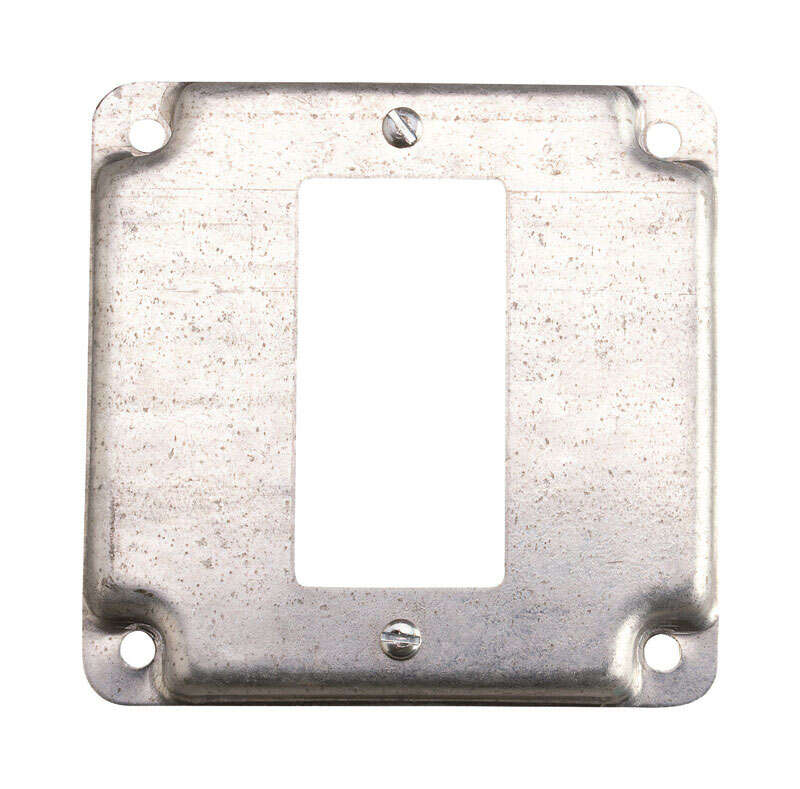 Steel City  Square  Steel  1 gang Outlet Box Cover  For 1 GFCI Receptacle