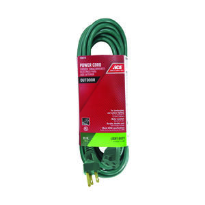 Ace  Outdoor  25 ft. L Green  Extension Cord  16/3 SJTW