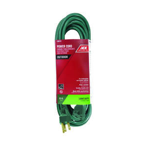 Ace  Outdoor  25 ft. L Extension Cord  16/3 SJTW  Green