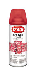 Krylon  Stained Glass  Translucent  Cranberry Red  Spray Paint  11.5 oz.