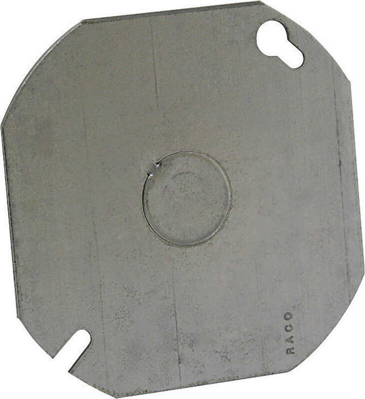 Raco  Octagon  Steel  Flat Box Cover