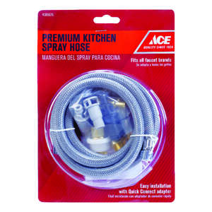 Ace  Gray  Other  Chrome  Spray Hose  Pull out faucet head to the faucet