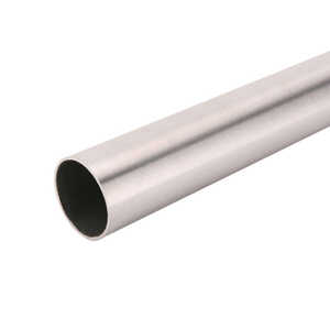 John Sterling  Pro HD  96 in. L x 1-3/8 in. Dia. Brushed Nickel  Steel  Heavy Duty Closet Rod