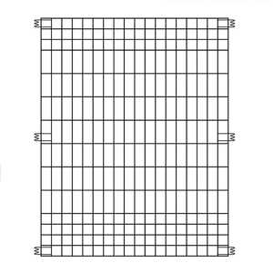 Origin Point Brand  44 in. H x 36  L 0 Ga. Black  Poultry Fence Panel