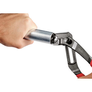 Milwaukee  REAM & PUNCH  10 in. Forged Alloy Steel  Hex Jaw  Reaming Tongue and Groove Pliers  Red