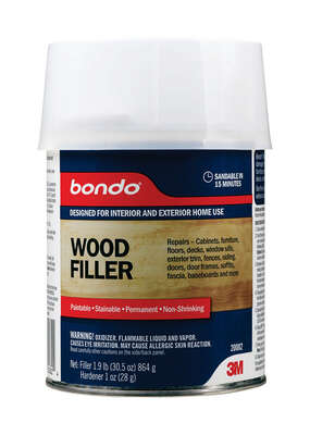 3M  Bondo  Brown  Wood Filler  1 qt.