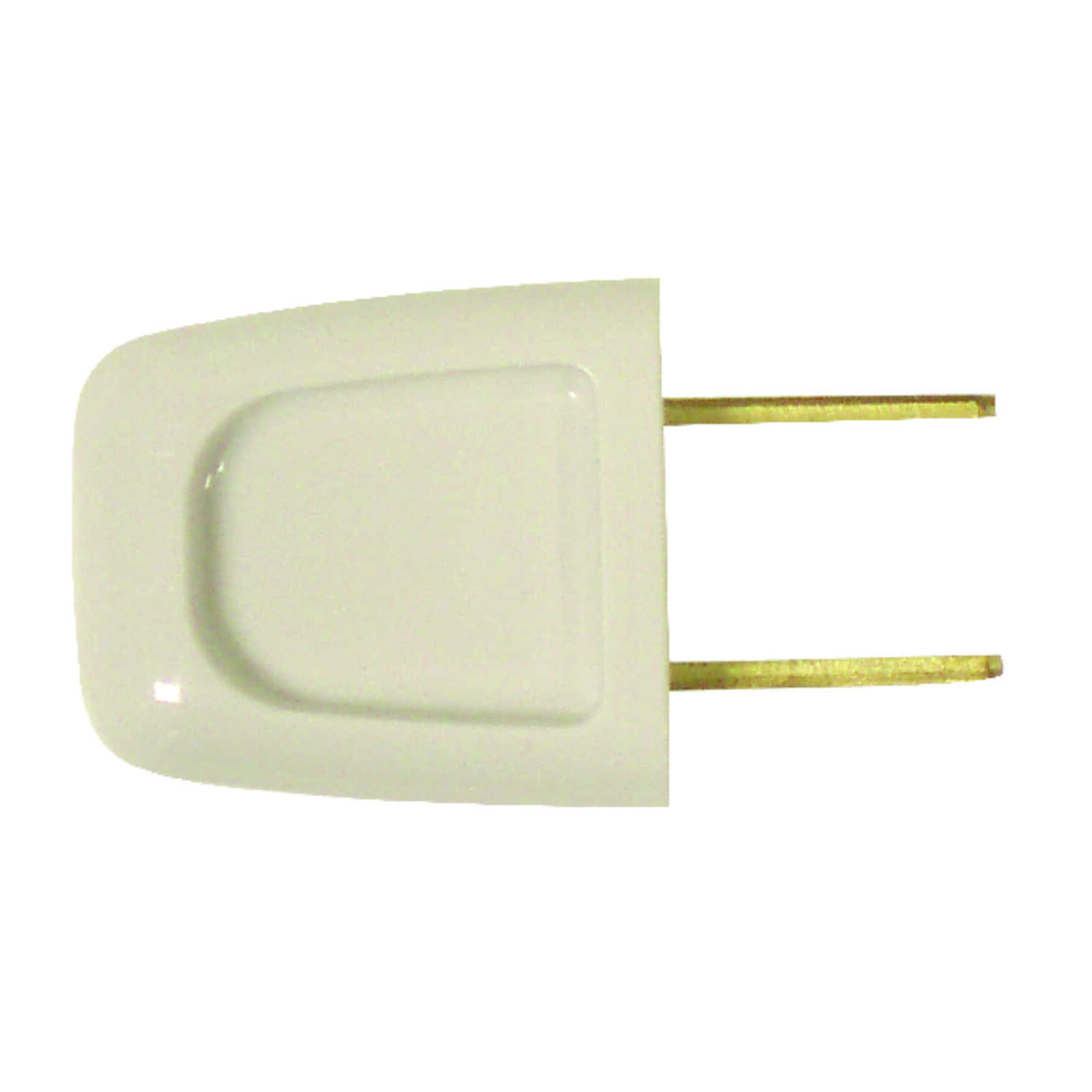 Pass & Seymour  Commercial and Residential  Thermoplastic  Non-Polarized  Plug  1-15P  18-2 AWG 2 Po