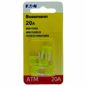 Bussmann  20 amps ATM  Mini Automotive Fuse  5 pk
