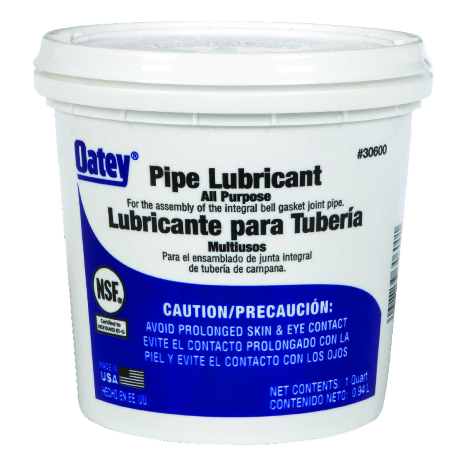 Oatey  1 qt. Pipe Lubricant
