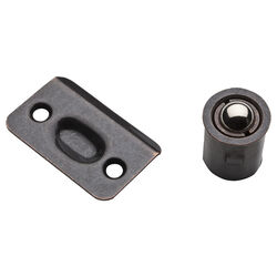 National Hardware  Oil Rubbed Bronze  Steel  Drive-In Ball Catch  1 pk