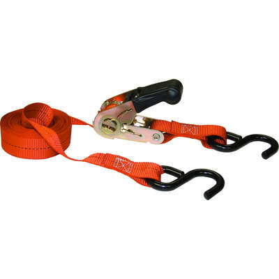 Keeper  1 in. W x 13 ft. L Orange  Tie Down w/Ratchet  400 lb. 1 pk