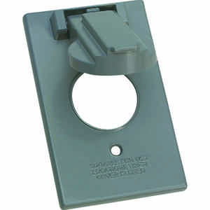 Sigma  Rectangle  Aluminum  1 gang Electrical Cover  For 1 Receptacle