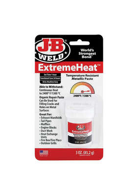 J-B Weld  ExtremeHeat  High Strength  Paste  Automotive Adhesive  3 oz.