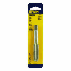 Irwin  Hanson  High Carbon Steel  SAE  Fraction Tap  5/8 in.-18NF  1 pc.