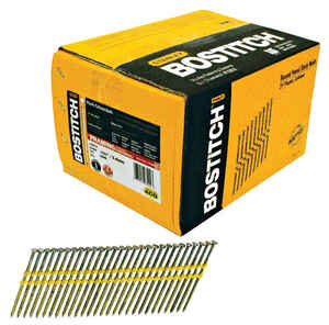 Stanley Bostitch  11 Ga. Smooth Shank  Straight Strip  Nails  3-1/4 in. L x 0.13 in. Dia. 4,000