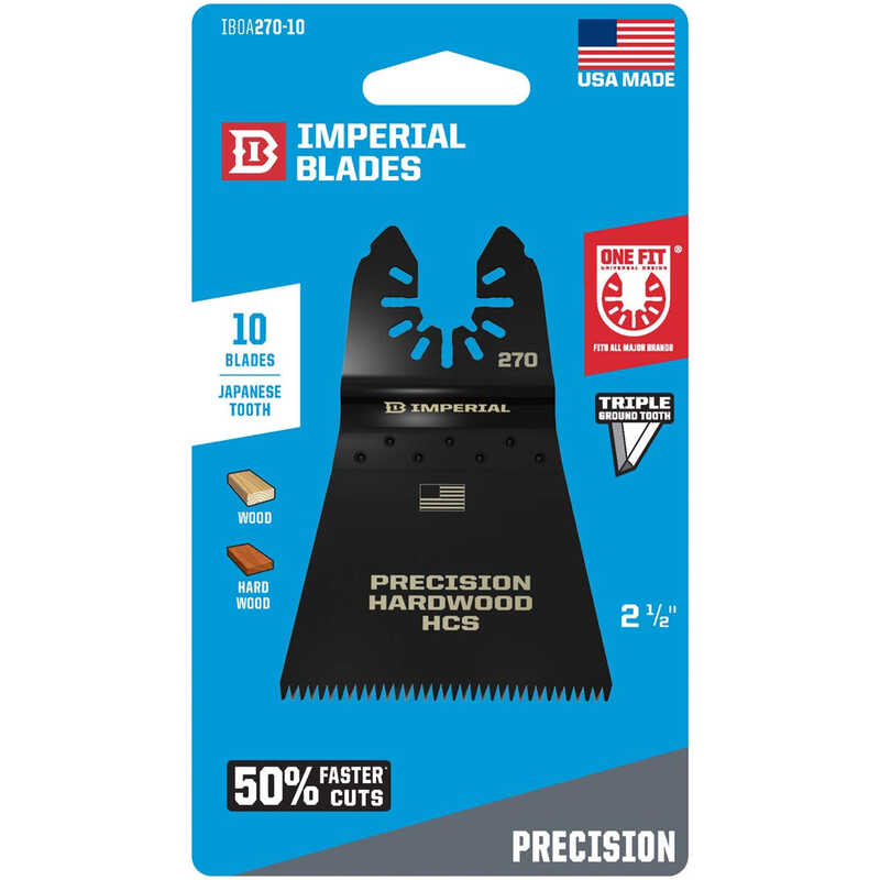 Imperial Blades  OneFit  2-1/2 in. Dia. High Carbon Steel  Precise Cut  Oscillating Saw Blade  10 pk