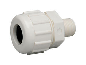 Homewerks  Schedule 40  1 in. MPT   x 1 in. Dia. Compression  PVC  Male Adapter
