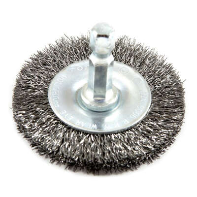 Forney 3 in. Crimped Wire Wheel Brush Metal 6000 rpm 1 pc.
