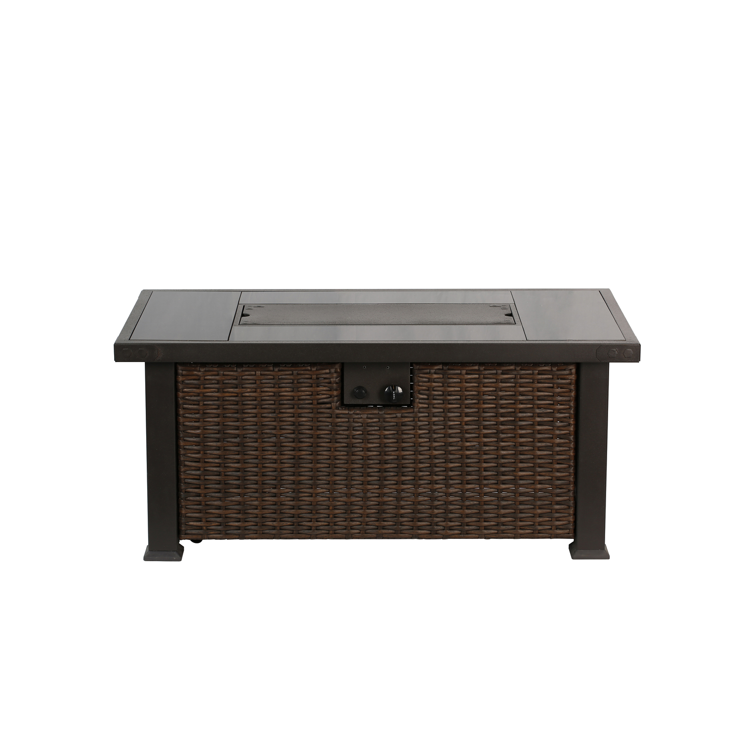 Shinerich  Rectangular  Propane  Fire Table  27.36 in. W x 23.43 in. H x 52 in. D Steel