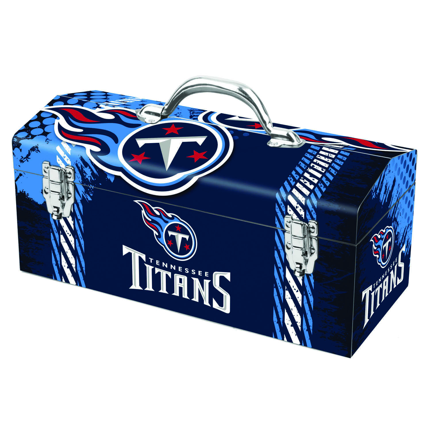 Sainty International  16.25 in. Steel  Tennessee Titans  Art Deco Tool Box  7.1 in. W x 7.75 in. H