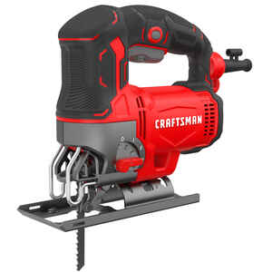 Craftsman  3/4 in. Corded  Keyless Jig Saw  6 amps U Shank  12.369 in. L Red