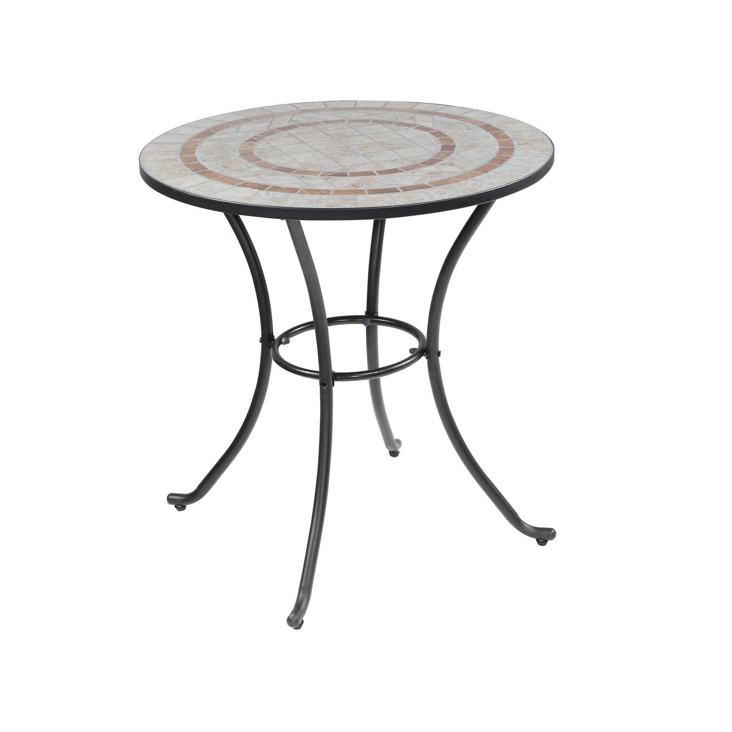 Living Accents  Melrose  Round  Mosaic Stone  Bistro Table