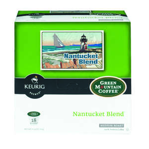 Keurig  Green Mountain Coffee  Nantucket Blend Medium Roast  Coffee K-Cups  18 pk