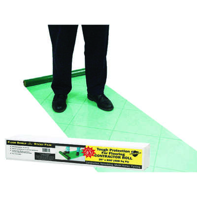 Surface Shields Floor Shield Self-Adhering Film 3 mil x 24 ft. W x 200 ft. L Polyethylene Green