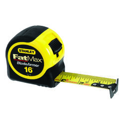 Stanley  FatMax  16 ft. L x 1.25 in. W Tape Measure  Black/Yellow  1 pk