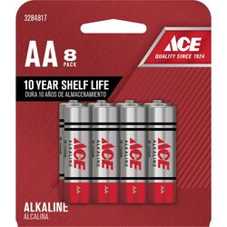 Ace  AA  Alkaline  Batteries  8 pk Carded