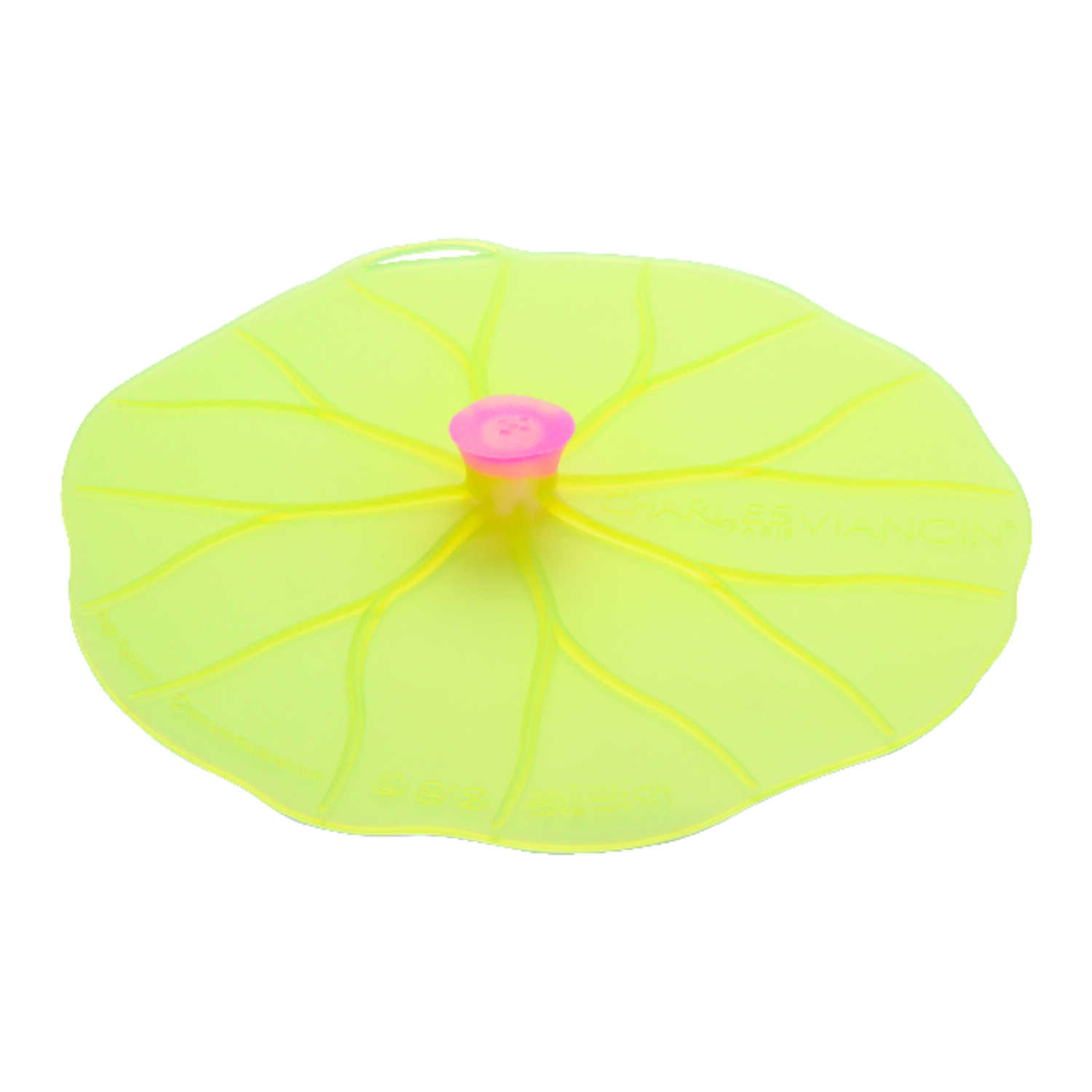 Charles Viancin  9 in. L Yellow  Medium Lily Pad Lid