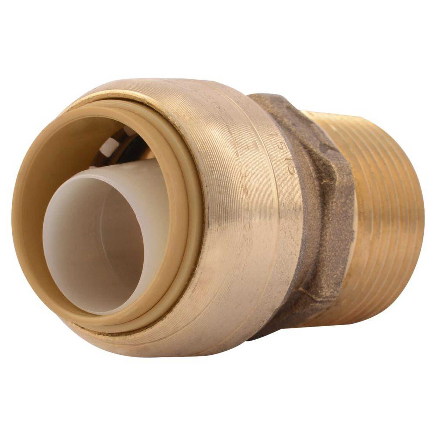 SharkBite  3/4 in. Push   x 1/2 in. Dia. MPT  Brass  Reducer Connector