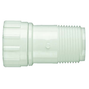 Lasco  3/4 in. 3/4 in. Dia. x 3/4 in. Dia. x MPT   x 3/4 in. Dia. White  PVC  Hose Adapter  FHT