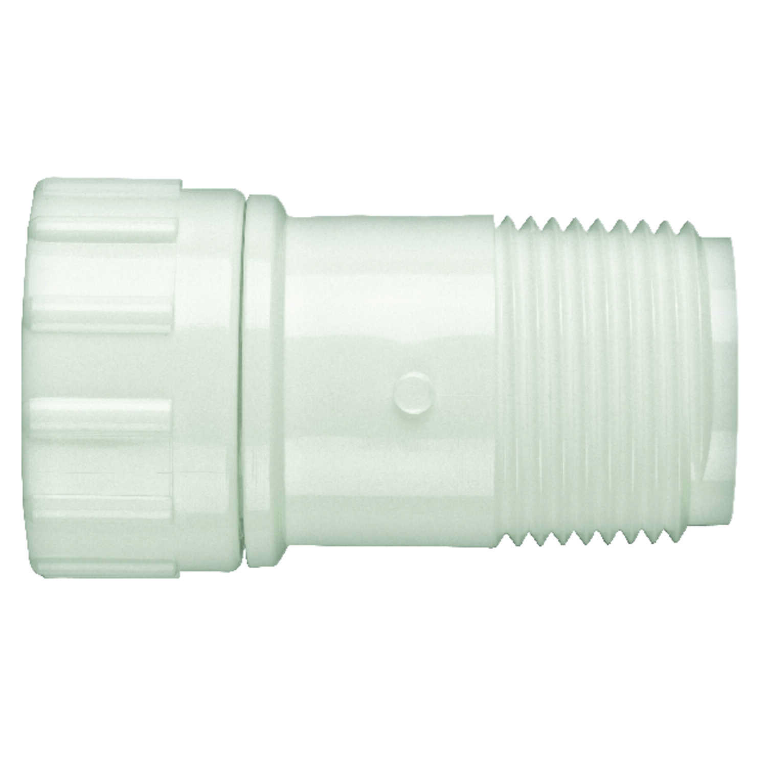 Lasco  PVC  Hose Adapter  3/4 in. Dia. x 3/4 in. Dia. White  1 pk