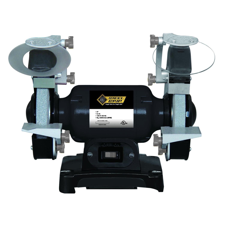 Peachy Steel Grip 6 In Bench Grinder 1 3 Hp 2 1 Amps 3450 Rpm Machost Co Dining Chair Design Ideas Machostcouk
