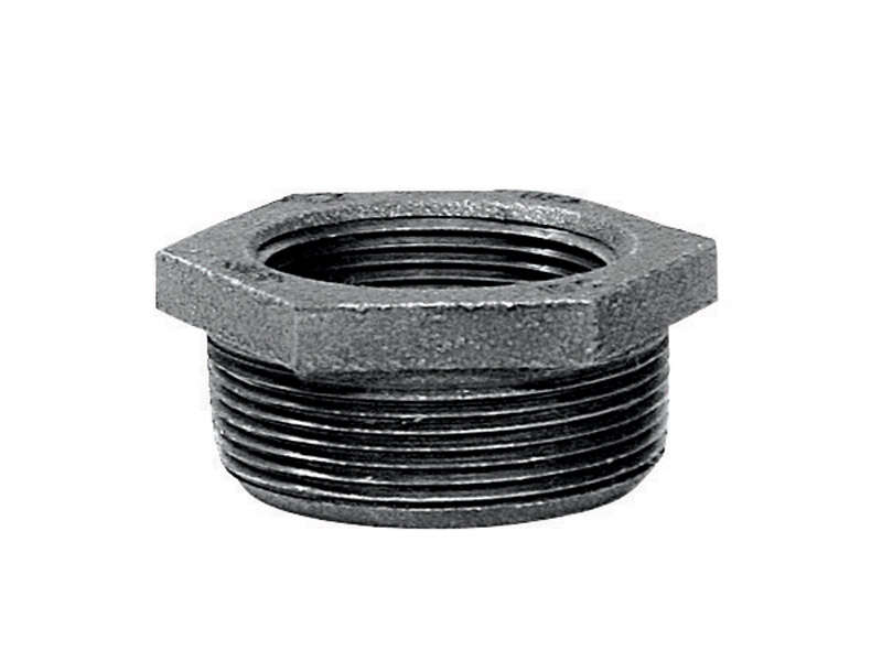 Mueller  4 in. MPT   x 3 in. Dia. FPT  Black  Malleable Iron  Hex Bushing