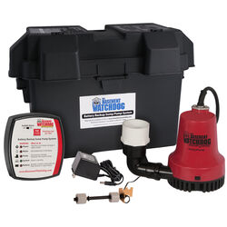 Basement Watchdog  1/4 hp 2,000 gph Thermoplastic  Dual Reed  Battery  Backup Sump Pump